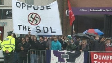 Arrests made during rival protests in Dumfries | The Indigenous Uprising of the British Isles | Scoop.it
