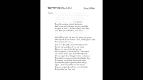Preparing a Shakespeare Monologue, Part 3: Poetry - YouTube | Sonnets | Scoop.it