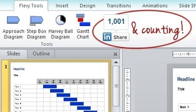 First Milestone Achieved for our Free PowerPoint Plugin – 1000 Shares and Counting | PowerPoint Diagrams | Scoop.it