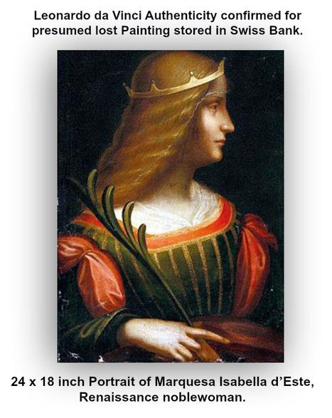 Rare 500 year old Leonardo da Vinci painting  located in Swiss Bank vault. | GoGo Social - Good Business? | Scoop.it