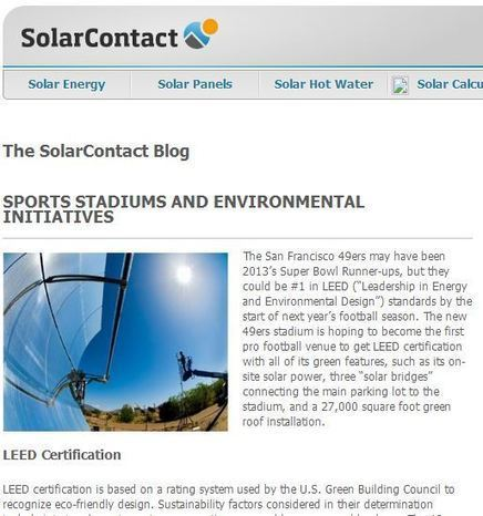 Professional Sports Teams Go Green with Their Stadiums ... | Sports Facility Management | Scoop.it