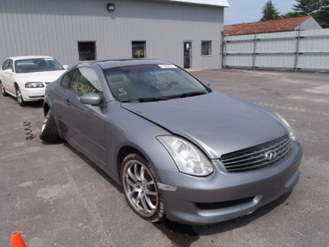 Salvage 2006 gray Infiniti G35 with VIN JNKCV54E76M709283 on auction | VEHICLES on Auction | Scoop.it