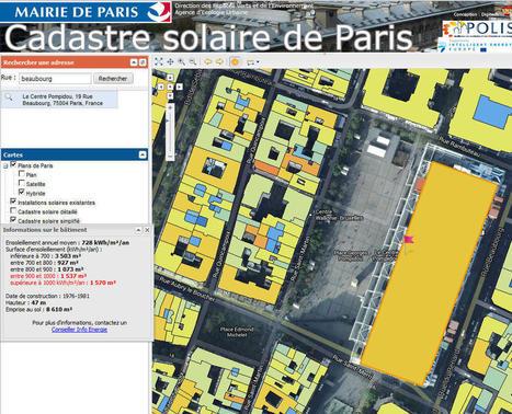Logiciel gratuit en ligne Cadastre Solaire de la mairie de Paris 2013 licence gratuite | Solar Energy News | Scoop.it