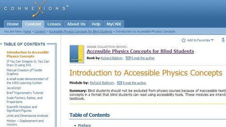 Introduction to Accessible Physics Concepts | Inclusive teaching and learning | Scoop.it