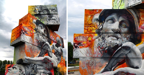 Architectural Canvas of #Shipping #Containers Painted With #Greek #Gods by Pichi & Avo #art #streetart   literatura   Scoop.it