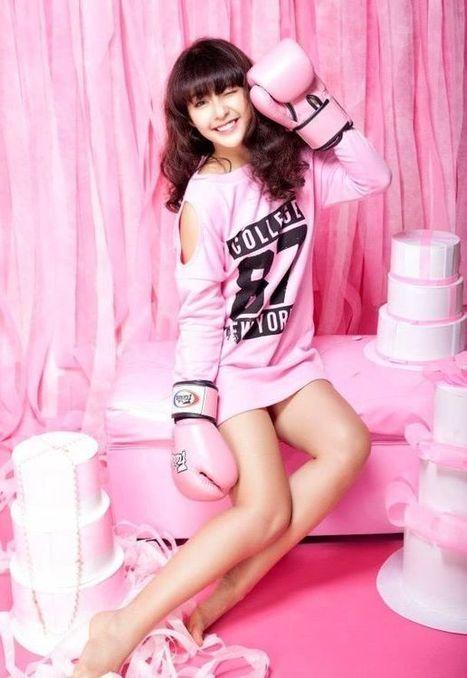 Khả ngân dễ thương trong mốt áo màu hồng | Ảnh hot girl cute, girl xinh gợi cảm | Scoop.it