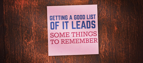 Getting a Good List of IT Leads: Some Things to Remember   ITSalesLeads   IT Blogs and Tips   Scoop.it