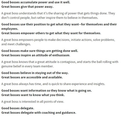 How You Can Be the Boss Who Goes From Good to Great | Education | Scoop.it