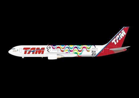 Tam envelopa aeronave para celebrar os 450 anos do Rio | Out of Home | Scoop.it