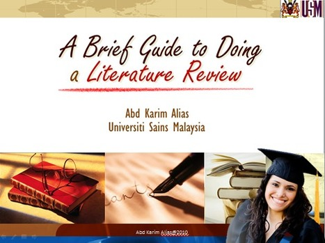 One Stop Learning: Doing a literature review | One Stop Learning Blog | Scoop.it