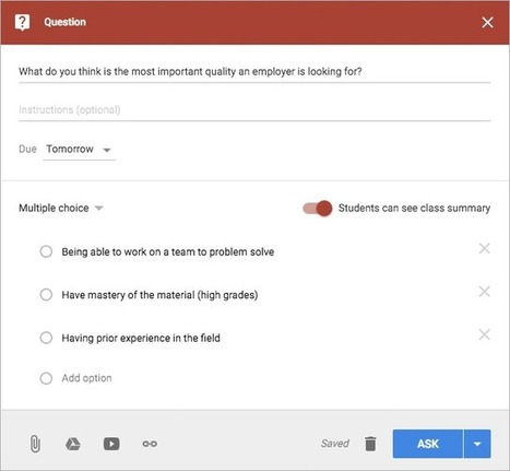 4 ways to use polling in Google Classroom | Teacher Engagement for Learning | Scoop.it