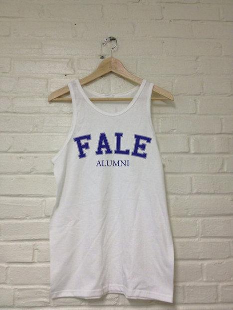 Fale Alumni Tank Top White Harvard Funny Yale Princeton University   Mindfulwear Collection   Scoop.it