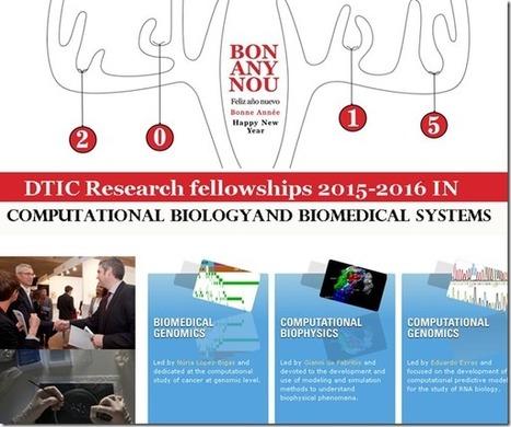 DTIC Research fellowships 2015-2016 | bioinforamtics | Scoop.it