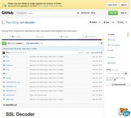 ssl-decoder: Un script PHP qui décode une connexion SSL ou certificats et affiche les infos | Web Increase | Scoop.it