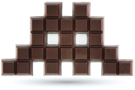 Space Invaders Chocolate   geekette   Scoop.it