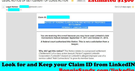 How to file your Linkedin claim as part of that $13 million potential settlement - Bonnie Sandy | Fashion Technology Designers & Startups | Scoop.it