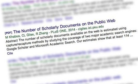 How many scholarly papers are on the Web? At least 114 million, professor finds | Penn State University | research policy | Scoop.it