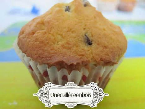recette de muffins aux pépites de chocolat Une cuillère en bois | Marchands De Goûts | Scoop.it