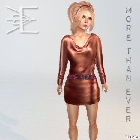 Gasoline Quicksilver Dress in Copper Group Gift by More Than Ever | Teleport Hub - Second Life Freebies | Second Life Freebies | Scoop.it