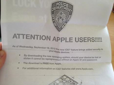 Téléchargez iOS7 : c'est la police qui vous le demande | Geeks | Scoop.it
