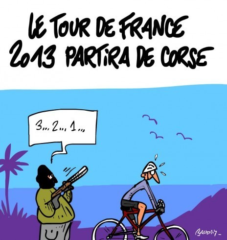 Le Tour de France 2013 partira de Corse | Baie d'humour | Scoop.it