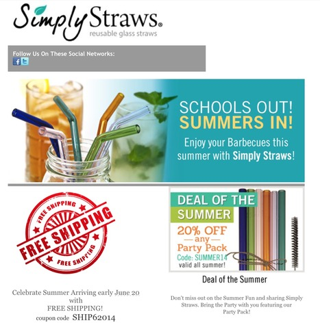 Simpy Straws 20% off Summer Deals! | Eco Action Heroes | Scoop.it
