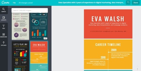 Créer un CV en infographie avec CANVA ! par SKODEN | Recherche d'emploi sur internet | Scoop.it