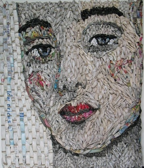 Woven Newspaper Portraits by Gugger Petter | Strange days indeed... | Scoop.it