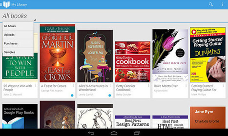 Google's Play Books now supports e-book uploads from any Android device - Engadget | Tech Mania | Scoop.it