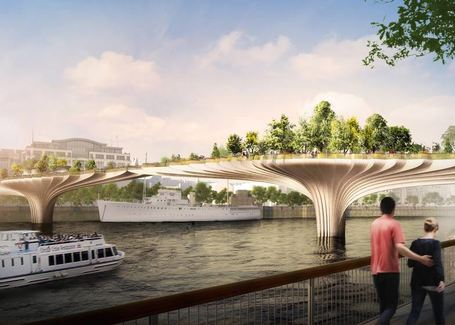 Thomas Heatherwick reveals garden bridge designed for River Thames | green streets | Scoop.it
