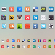 Free Collection Of Stylish Social Media Icons | Beat Fly Blog | tutorial ... | SMO - social media optimization | Scoop.it