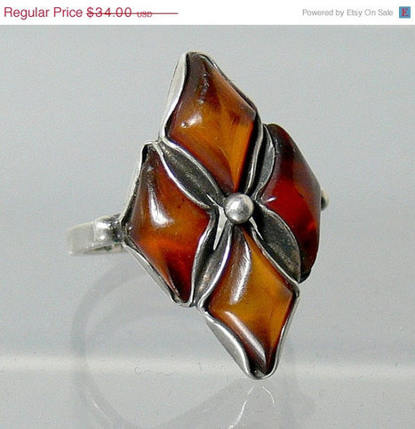 Vintage Sterling Silver Baltic Amber Ring | Gorgeous Vintage I Crave! | Scoop.it