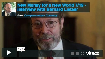 Bernard Lietaer - Currency Solutions for a wider World | #CoopStGilles Sources | Scoop.it