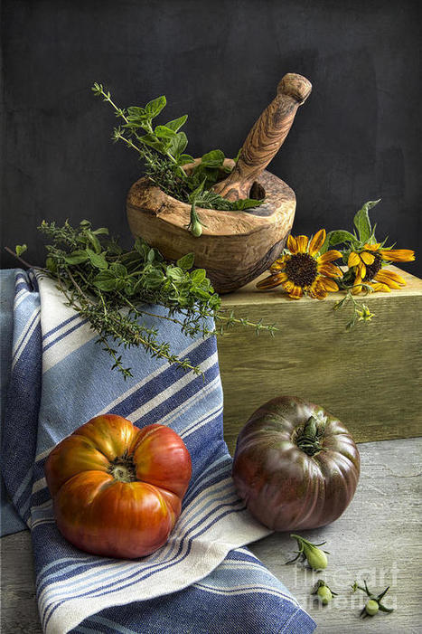 Tomatoes And Herbs by Elena Nosyreva | gourmet jam | Scoop.it