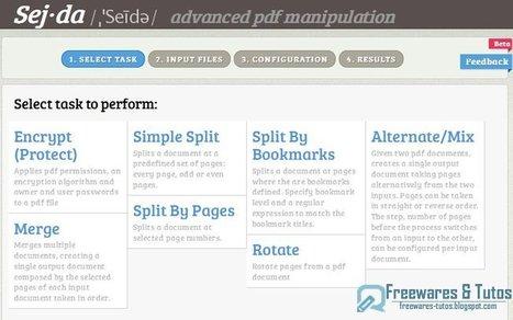 Sejda : un outil en ligne pour manipuler et éditer les fichiers PDF | Time to Learn | Scoop.it