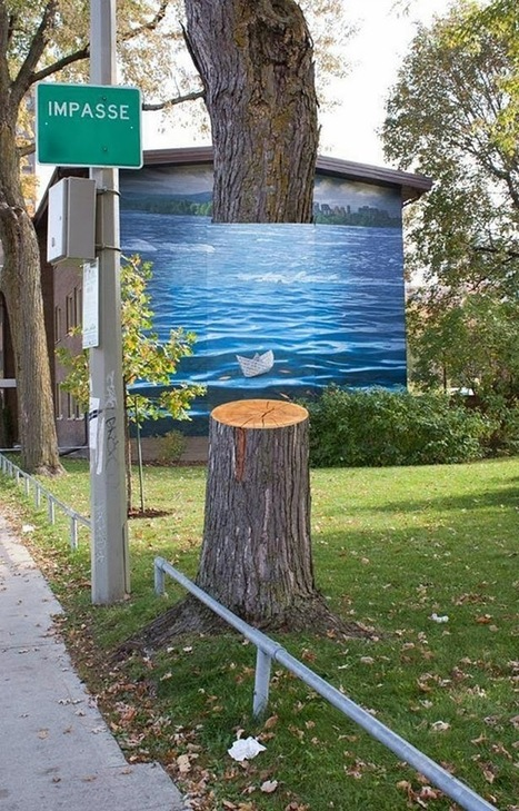 Hovering Tree Illusions Aim to Raise Awareness About the Plight of our Urban Forests | Junkculture | The brain and illusions | Scoop.it