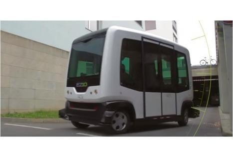Un minibus sans conducteur en démonstration à Paris | Report modal | Scoop.it