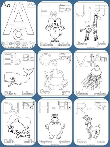 Completo abecedario con 90 fichas para colorear, aprender y repasar. | desdeelpasillo | Scoop.it