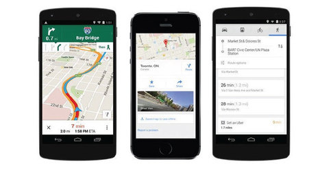 Google Maps se actualiza para móviles con iOS y Android | Geografia 2.0 | Scoop.it
