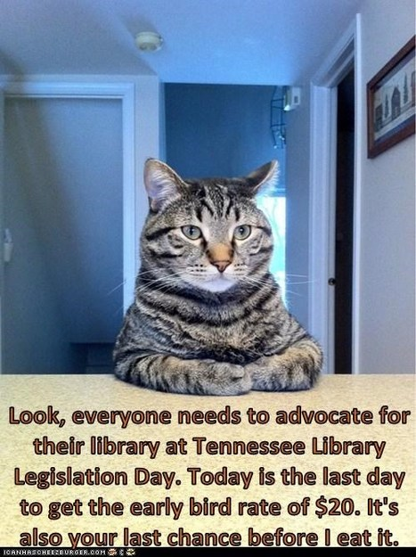 Last chance to get the Early Bird Rate when registering for Tennessee Library Legislative Day | Tennessee Libraries | Scoop.it