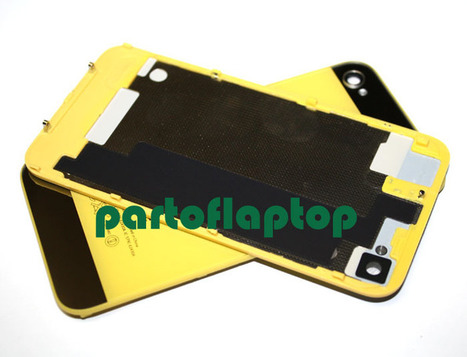 Yellow iPhone 4S GLASS Battery Door Back Cover w/ iPhone 5 Style+open TOOLS   iPhone 4S Battery Cover With  iPhone 5 Style   Scoop.it