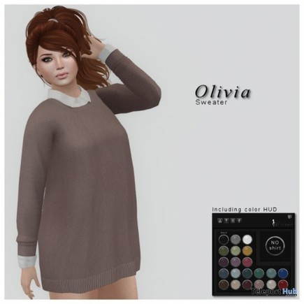 Olivia Sweater Blush Group Gift By WICKED   Teleport Hub - Second Life Freebies   Second Life Freebies   Scoop.it