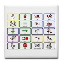 20 Core Words Communication Board Tile Coaster> AAC Boards> Teaching Learners with Special Needs   Communication and Autism   Scoop.it