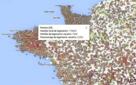 Carte: votre commune est-elle pleine de logements vides? | D'Dline 2020, vecteur du bâtiment durable | Scoop.it