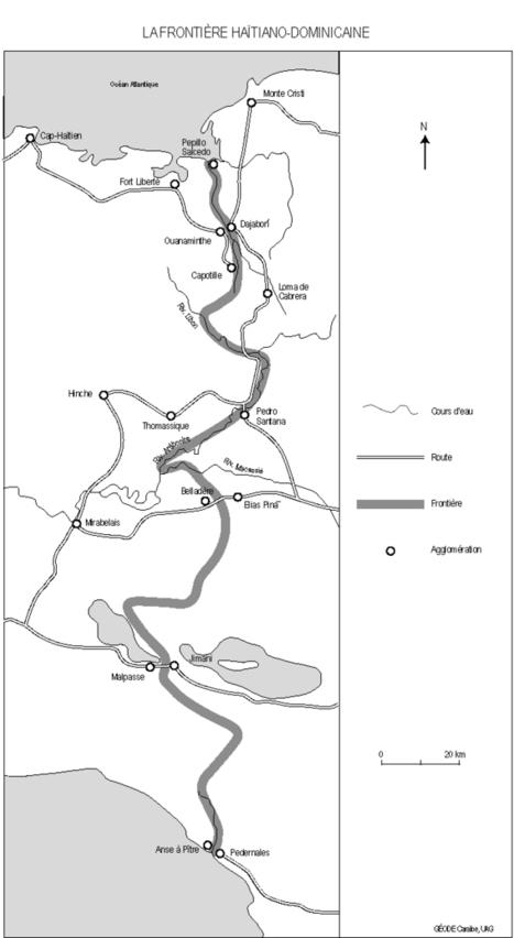 Carte : La frontière Haïtiano-Dominicaine (Géode) | Géographie des frontières | Scoop.it