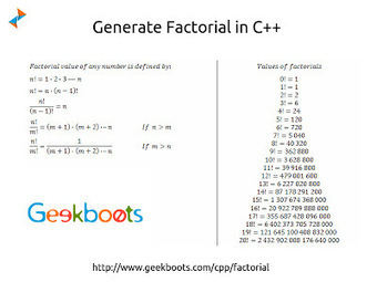 Factorial in C Plus Plus   Learn programming with examples   Scoop.it
