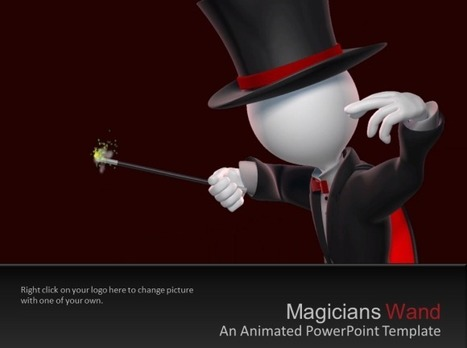 Animated Magicians PowerPoint Template With Magic Wand Illustration | PowerPoint Presentation | good | Scoop.it