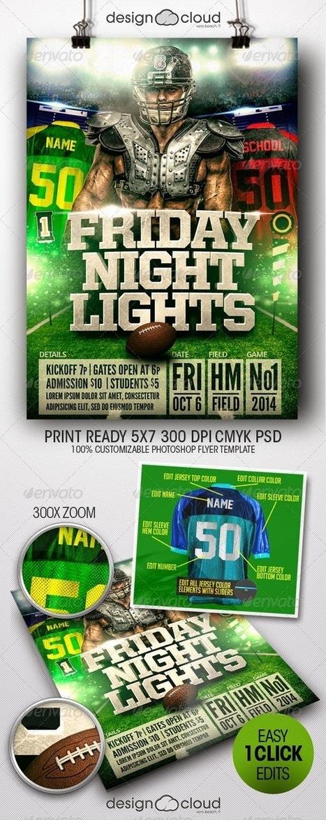 Super Bowl Night Party Lights NFL/ College Football Flyer Template. | artgrap.com | Artwork, Graphic & Illustration | Scoop.it