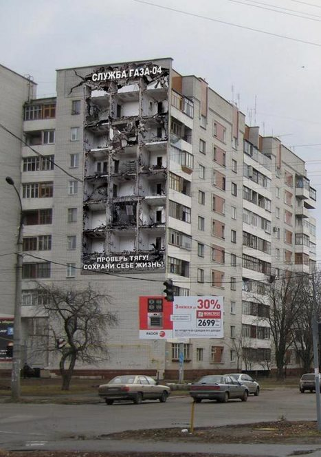 20 Clever Ads on Buildings | DeMilked | Xposed | Scoop.it
