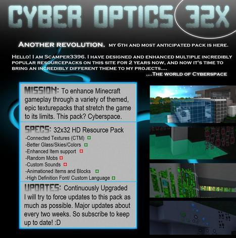 [1.7.2/1.6.4/1.6.2/1.5.2] Cyber Optics Resource ( Texture ) Pack | best texture packs 1.6.4 | Scoop.it